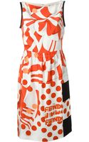 Fendi Printed Dress - Lyst