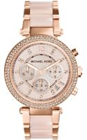 Michael Kors Womens Chronograph Parker Blush and Rose Goldtone Stainless Steel Bracelet Watch 33mm - Lyst