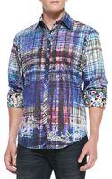 Robert Graham Gingerman Abstractplaid Sport Shirt - Lyst