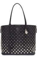 Alexander McQueen Padlock Small Studded Shopper Bag - Lyst