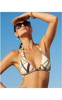 Michael Kors Michael Statusprint Halter Bikini Top - Lyst