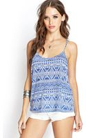 Forever 21 Tribal Print Yback Cami - Lyst