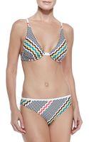 Missoni Wavy-pattern Underwire Bikini - Lyst