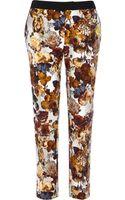River Island Cream Floral Print Slim Cigarette Pants - Lyst