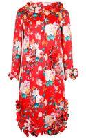 Simone Rocha Mad Flower Long Sleeve Dress - Lyst