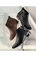Cole Haan Belmont Leather Bootie - Lyst