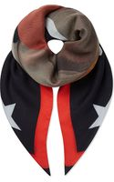 Givenchy Flame and Star Print Modal Scarf Multi - Lyst