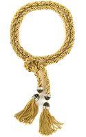 Rachel Zoe Long Tie Necklace - Lyst