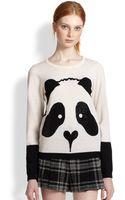 Alice + Olivia Rhinestoneembellished Panda Pullover - Lyst