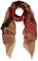 Faliero Sarti Red Stripe Felted Camelblend Scarf - Lyst