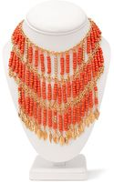 Forever 21 Goddess Beaded Bib Necklace - Lyst