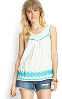 Love 21 Embroidered Sleeveless Woven Top - Lyst