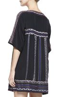 Nanette Lepore Run Wild Silk Boat-neck Shift Dress - Lyst