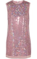 Marc By Marc Jacobs Stelli Sequined Silk Mini Dress - Lyst