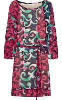 Diane Von Furstenberg Eribec Printed Silk Mini Dress - Lyst