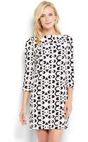 Diane Von Furstenberg Ruri Printed Shift Dress - Lyst
