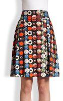 Akris Punto Cotton Record-print Skirt - Lyst