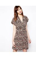French Connection Tie Waist Dress - Lyst