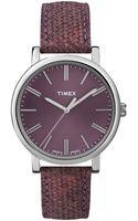 Timex® Womens Premium Originals Classic Burgundy Woven Leather Strap 38mm T2p172ab - Lyst