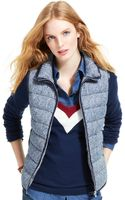 Tommy Hilfiger Printed Quilted Vest - Lyst