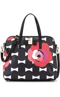 Kate Spade Bloom Drive Margot Printed Satchel Bag Black Multi - Lyst