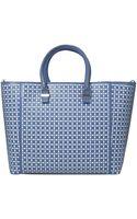 Victoria Beckham Blue Liberty Laser Cut Bag - Lyst