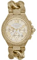 Michael Kors Womens Chronograph Camille Glitz Goldtone Stainless Steel Bracelet Watch 43mm - Lyst