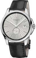 Gucci G-timeless Automatic Stainless Steel and Leather Watch - Lyst
