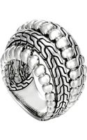 John Hardy Classic Chain Silver Dome Ring - Lyst