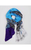 Diane Von Furstenberg New Boomerang Silk Scarf - Lyst