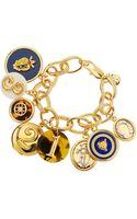 Tory Burch Shiny Delora Charm Bracelet - Lyst