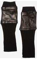 Carolina Amato Leather Fingerless Gloves - Lyst