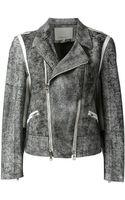 3.1 Phillip Lim Textured Biker Jacket - Lyst