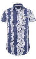 Armani Jeans Floral Denim Wash Shirt - Lyst