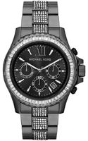 Michael Kors Oversize Gunmetal Stainless Steel Everest Chronograph Glitz Watch - Lyst