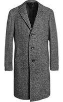 Canali Kei Unstructured Herringbone Woolblend Overcoat - Lyst