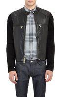 Todd Snyder Leather Café Racer Jacket - Lyst