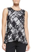 Lafayette 148 New York Lucy Jersey Printed Sleeveless Top - Lyst