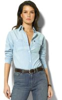 Lauren by Ralph Lauren Lauren Jeans Co Chambray Shirt - Lyst