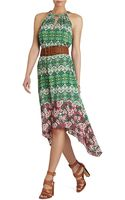 BCBGMAXAZRIA Keelie Blocked Print Halter Dress - Lyst