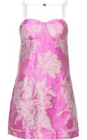 Topshop Womens Flower Cupped Slip Dress Pink - Lyst