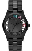 Marc By Marc Jacobs Watch Womens Henry Skeleton Black Ionplated Stainless Steel Bracelet 40mm - Lyst