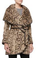 Diane von Furstenberg Leopard-print Wrap Coat - Lyst