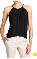Banana Republic Factory Pleated Halter Top Black - Lyst