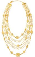 Jose & Maria Barrera 24k Yellow Gold Plated Medallion Ornament Multi-strand Necklace - Lyst