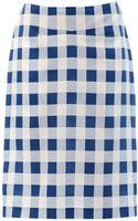 Derek Lam Check Pencil Skirt - Lyst