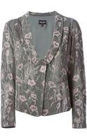 Giorgio Armani Embellished Floral Pink Jacket - Lyst