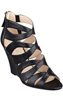 Nine West Cronin Leather Wedge Sandals - Lyst