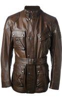 Belstaff Belted Jacket - Lyst