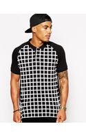 Asos Polo with Geo Grid Print - Lyst
